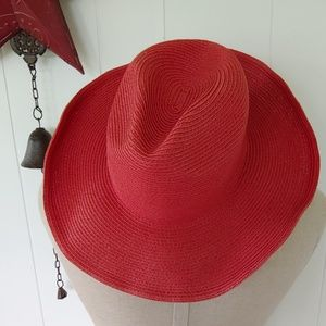 HP 🎉 Red Woven Cowgirl Hat